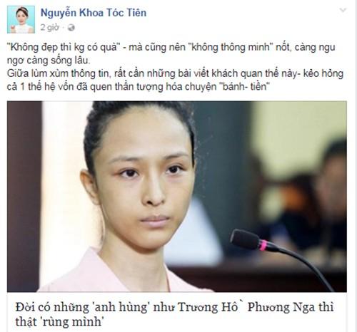 """Toc Tien: """"Dang buon khi tung ho Phuong Nga la anh hung""""-Hinh-2"""