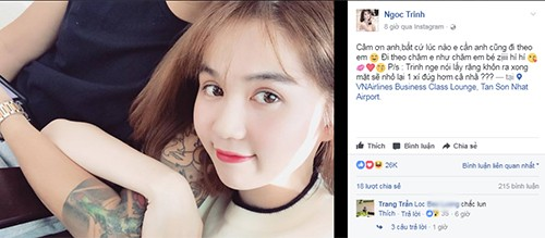 Ngoc Trinh up mo khoe ban trai va su that te ngua
