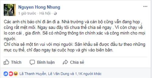 Vo Xuan Bac bao tin vui ve cuoc hop voi truong Nghe thuat-Hinh-2
