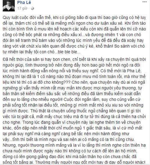 "Pha Le dap tra khi bi Duong Yen Ngoc ""mia mai"" vu uong thuoc ngu-Hinh-2"