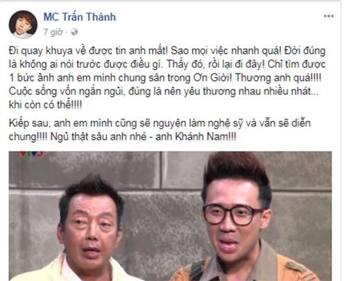 Tran Thanh, Cat Phuong tiec thuong NS Khanh Nam qua doi-Hinh-2