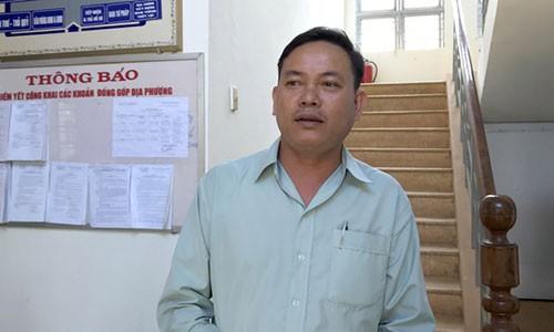 Truong cong an xa da vang thau ca: 'Toi chua luong truoc su viec'