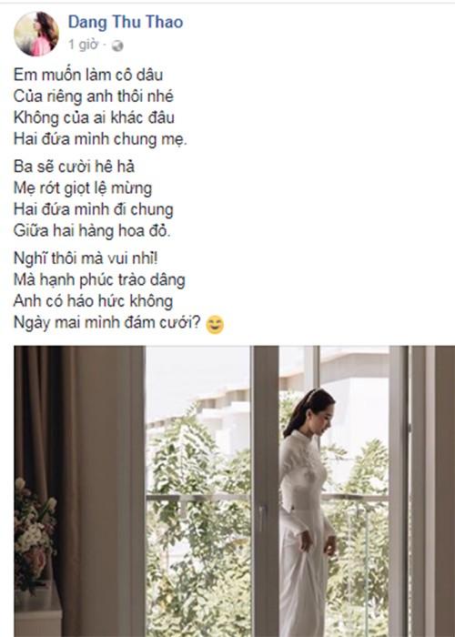 Hoa hau Thu Thao trai long truoc ngay ve nha chong-Hinh-2