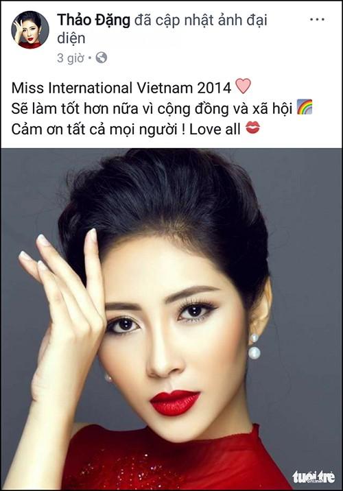 Dang Thu Thao quyet tu bo danh hieu Hoa hau Dai duong 2014-Hinh-3