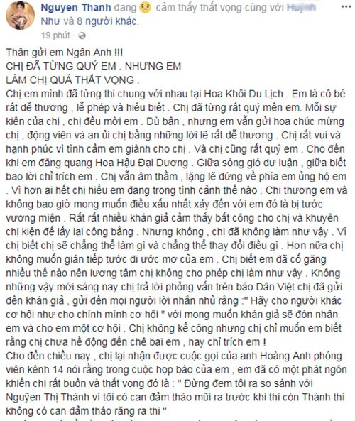 Bi Ngan Anh che khong dam thao rang, Nguyen Thi Thanh noi gi?-Hinh-2
