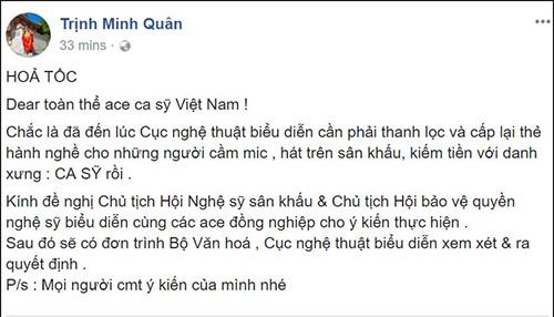 Hoang Bach, Lam Truong phan doi viec de xuat cam Chi Pu di hat-Hinh-2