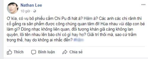 Hoang Bach, Lam Truong phan doi viec de xuat cam Chi Pu di hat-Hinh-5