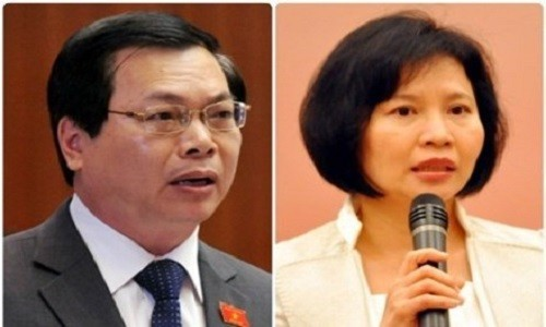 Thu tuong ky luat ong Vu Huy Hoang va Thu truong Ho Thi Kim Thoa