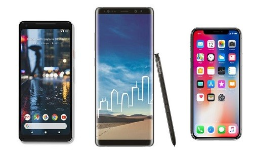 Nen mua iPhone X, Google Pixel 2 XL hay Galaxy Note 8?