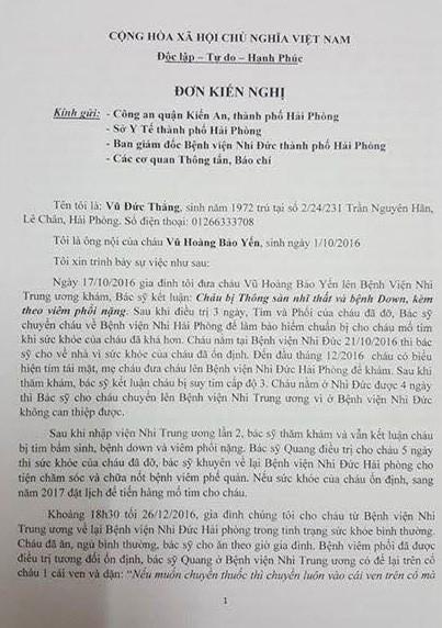 Be 2 thang tuoi tu vong tai benh vien Tre em Hai Phong-Hinh-2