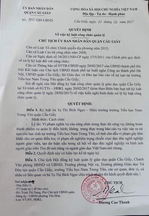 Cong bo cach chuc vang mat hieu truong tieu hoc Nam Trung Yen-Hinh-2