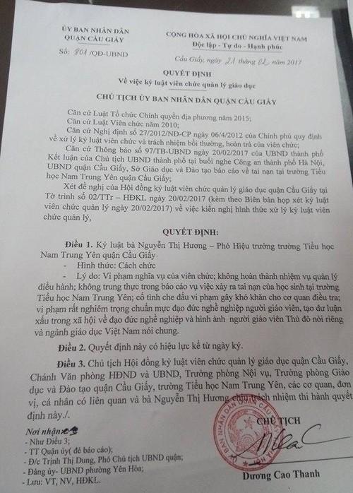 Cong bo cach chuc vang mat hieu truong tieu hoc Nam Trung Yen-Hinh-3