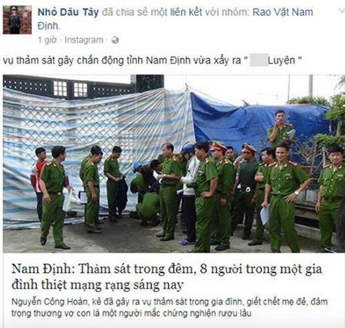 """Lan ra nguoi tung tin don nham """"tham an 8 nguoi chet o Nam Dinh"""""""