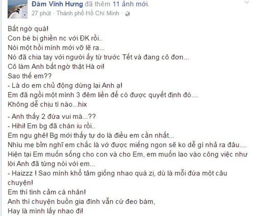 Mr. Dam tiet lo Ho Ngoc Ha chia tay Chu Dang Khoa truoc Tet