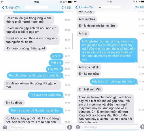 Viet Anh noi gi ve tin nhan tu so dien thoai cua Bao Thanh?