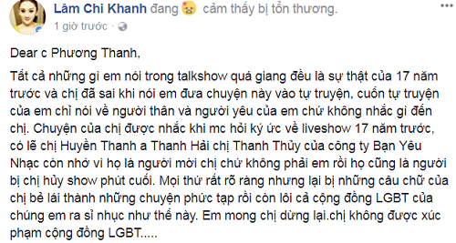 "Lam Khanh Chi buc xuc: Phuong Thanh ""be lai"" si nhuc LGBT-Hinh-2"