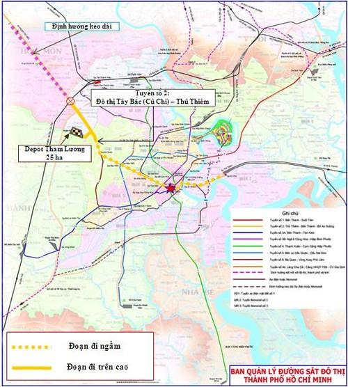 TPHCM xin Thu tuong gia han lam tuyen metro so 2 vao nam 2020