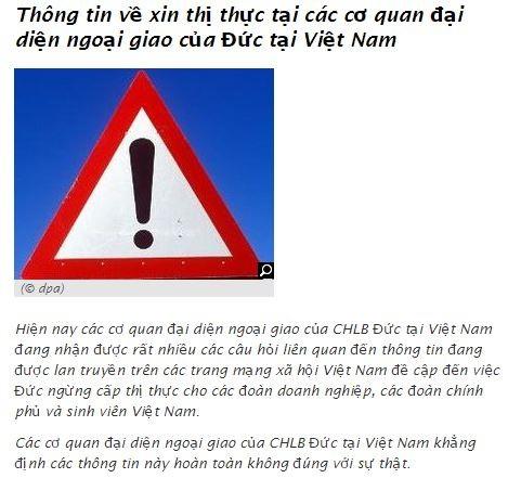 Khong co chuyen Dai su quan Duc ngung cap thi thuc