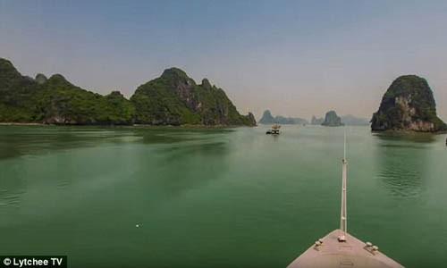 Vinh Ha Long tuyet dep trong video 2 phut vong quanh chau A