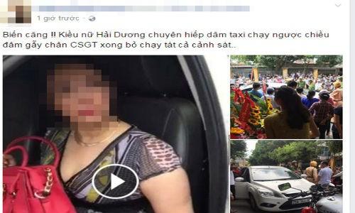 """""""Kieu nu Hai Duong"""" co thu tren xe nhieu gio gay ach tac"""