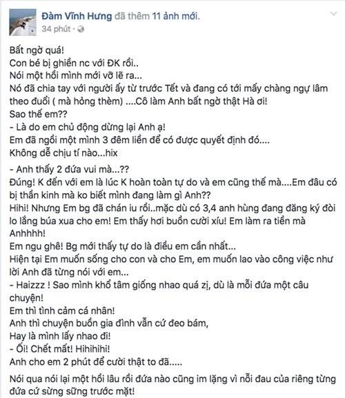 Mr Dam giai oan Ha Ho khong phai nguoi thu ba?