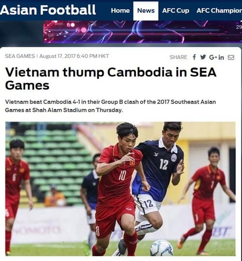 Bao the gioi me man U22 Viet Nam, tho o Thai Lan