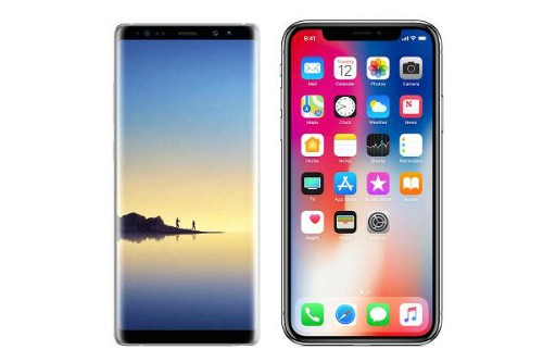 Chon Galaxy Note 8 hay iPhone X?