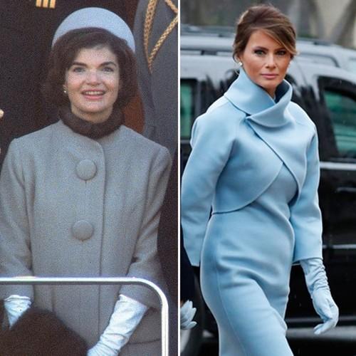 Ba Melania Trump mac giong Jackie Kennedy ngay chong nham chuc-Hinh-2