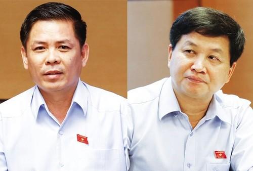 Da so DBQH tan thanh viec phe chuan Bo truong GTVT va Tong Thanh tra