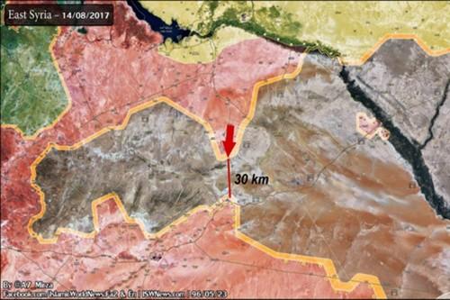 Phien quan IS sap bi vay chat o mien trung Syria