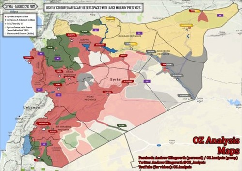 Thang 8/2017: Quan doi Syria dai thang tren nhieu mat tran