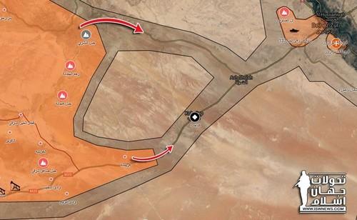 Tin nong: Quan doi Syria tien cach thanh pho Deir Ezzor 25km