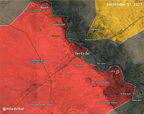 Quan doi Syria dai thang o Deir Ezzor, da vuot song Euphrates