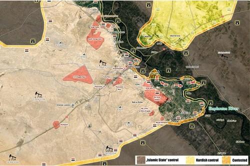 Nguy co dung do Quan doi Syria-SDF o bo dong song Euphrates
