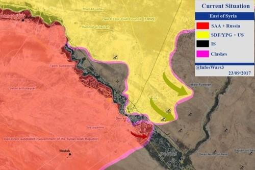 SDF tan cong dut diem Raqqa, chiem nhieu mo dau o Deir Ezzor