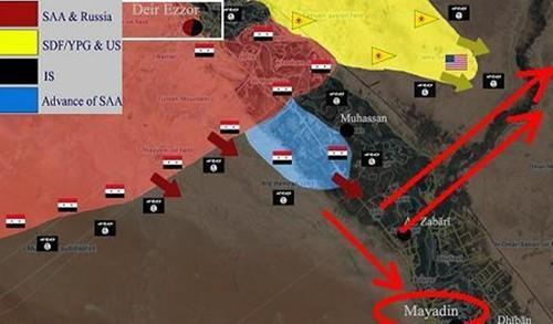 Syria danh Mayadin, don cuc hiem xoay chuyen cuc dien Deir Ezzor