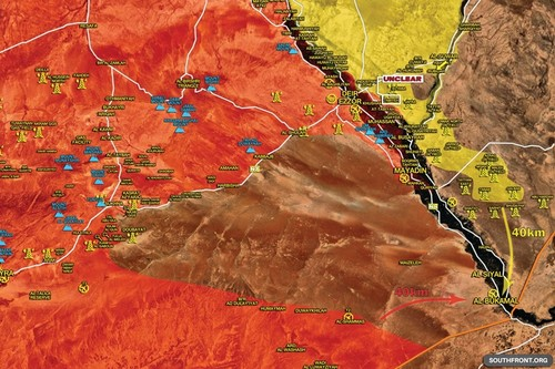 Syria: SAA va SDF chay dua tien danh thanh pho al-Bukamal