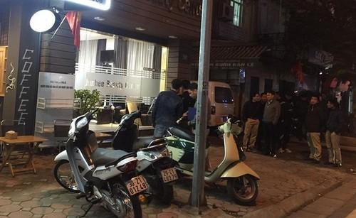 No sung lien tiep tren pho Phan Boi Chau, Ha Noi