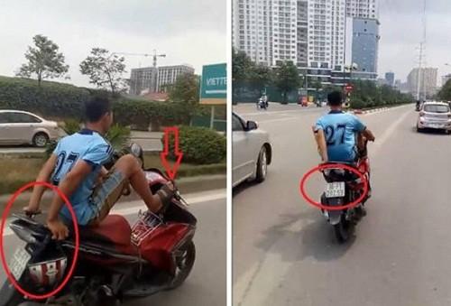 Cong an tim ra nguoi di xe may bang chan tren duong Ha Noi