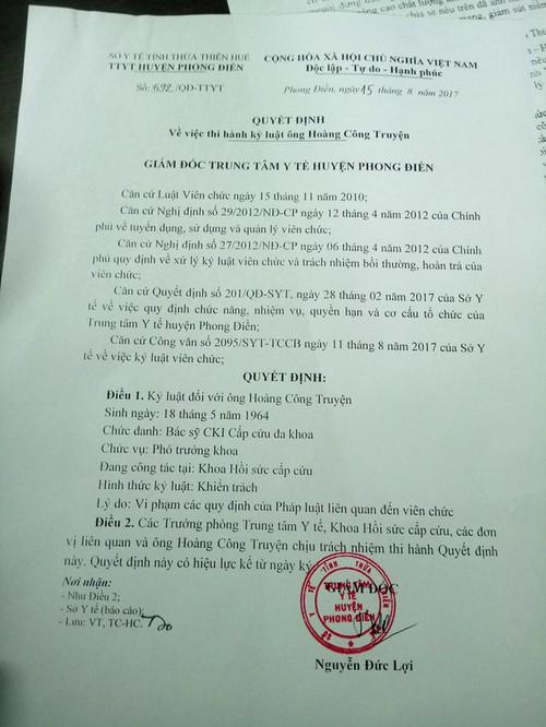 """He lo nguyen nhan bac si """"chem gio"""" tren mang che Bo truong Bo Y te"""