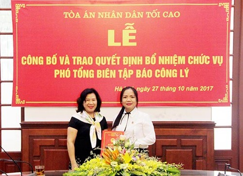 Bo nhiem ba To Thi Lan Phuong lam Pho TBT bao Cong ly