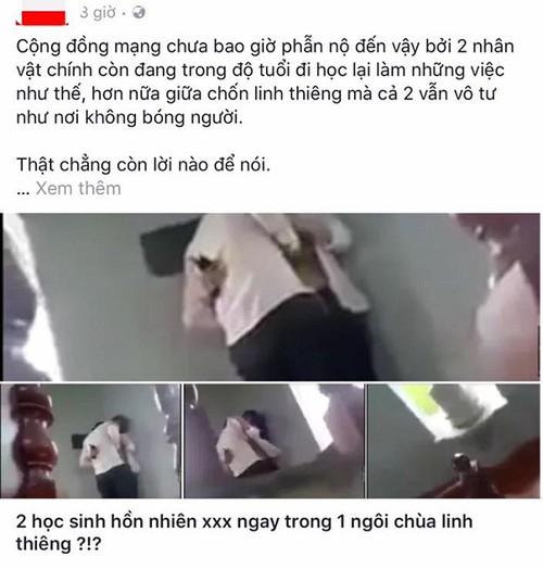 "Doi hoc sinh lam ""chuyen ay"" trong chua gay phan no"