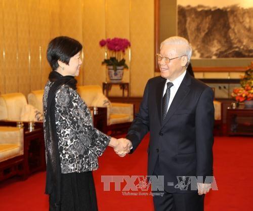 Tong Bi thu tiep doan DB Hoi Huu nghi Doi ngoai Nhan dan TQ