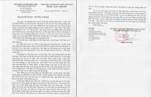 Lien hiep Hoi Viet Nam de nghi Bo VH-TT-DL cai chinh thong tin