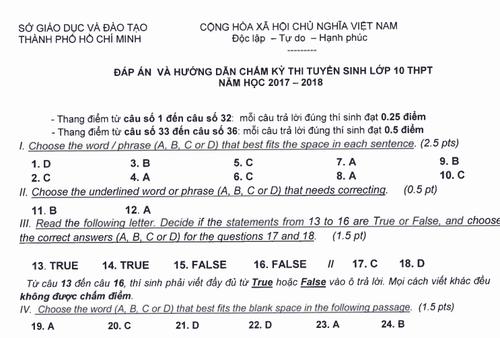 TP HCM cong bo dap an ky thi tuyen sinh vao lop 10-Hinh-7