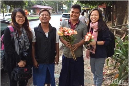 Don binh minh tai ngoi chua thieng nhat Myanmar