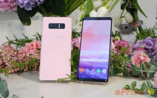 Galaxy Note 8 mau hong vua ra mat tai Dai Loan