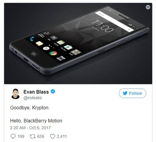Dien thoai cam ung toan man hinh dau tien cua BlackBerry co gi la?