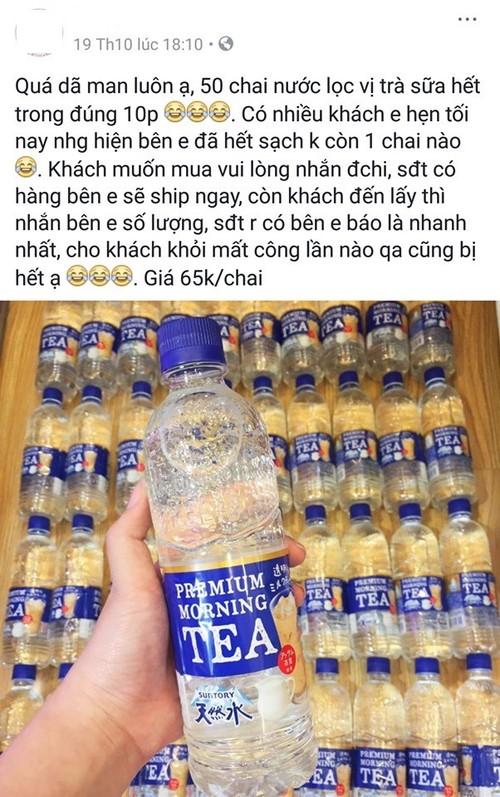 Nuoc loc vi tra sua Nhat Ban 65.000 dong/chai chay hang
