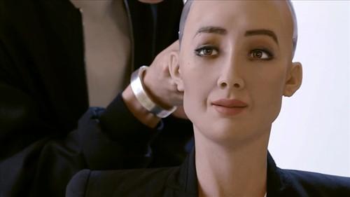 Ty phu Elon Musk noi gi khi bi robot Sophia cham biem?